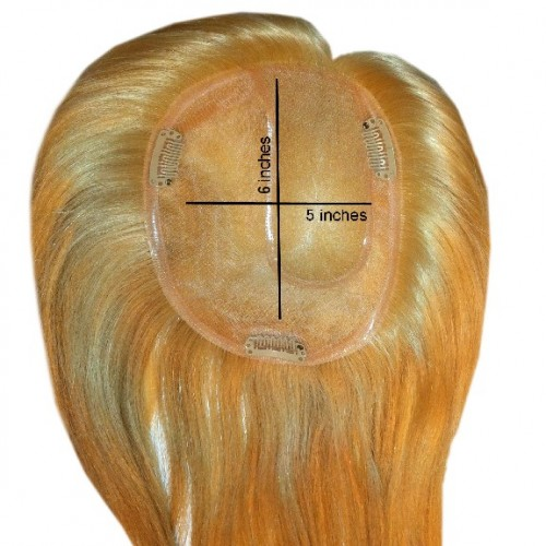 Enchantop Human Hair Extensions Topper Medium